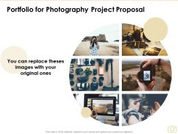 Portfolio For Photography Project Proposal Ppt Powerpoint Presentation Icon