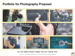 Portfolio For Photography Proposal Ppt Powerpoint Presentation Summary