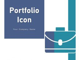 Portfolio Icon Briefcase Dollar Business Documents Holding Magnifying Glass