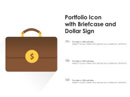 Portfolio Icon With Briefcase And Dollar Sign