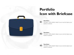 Portfolio Icon With Briefcase