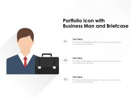 Portfolio Icon With Business Man And Briefcase