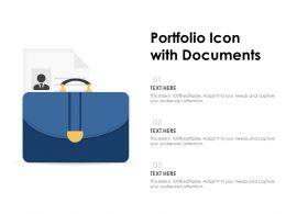 Portfolio Icon With Documents