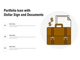 Portfolio Icon With Dollar Sign And Documents