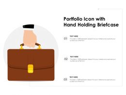 Portfolio Icon With Hand Holding Briefcase
