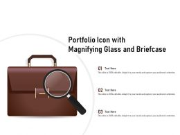 Portfolio Icon With Magnifying Glass And Briefcase