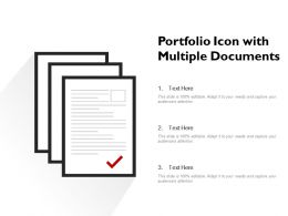 Portfolio Icon With Multiple Documents