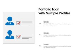 Portfolio Icon With Multiple Profiles