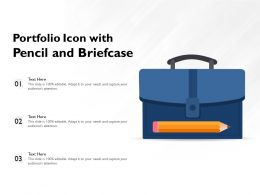 Portfolio Icon With Pencil And Briefcase