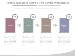 Portfolio Intelligence Example Ppt Sample Presentations