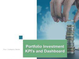 Portfolio Investment Kpis And Dashboard Powerpoint Presentation Slides