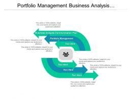 Portfolio Management Business Analysis Communication Plan Shareholder Analysis Cpb