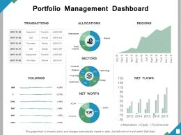 Portfolio Management Dashboard Ppt Powerpoint Presentation File Guide