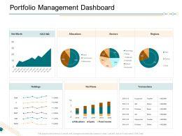 Portfolio Management Dashboard Ppt Powerpoint Presentationmodel Brochure