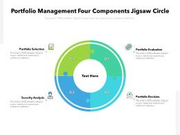 Portfolio Management Four Components Jigsaw Circle
