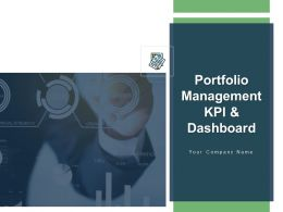 Portfolio Management Kpi And Dashboard Powerpoint Presentation Slides