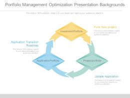 Portfolio Management Optimization Presentation Backgrounds