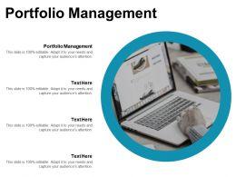 Portfolio Management Ppt Powerpoint Presentation Ideas Smartart Cpb