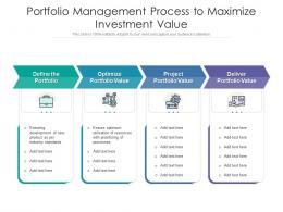 Portfolio Management Process To Maximize Investment Value