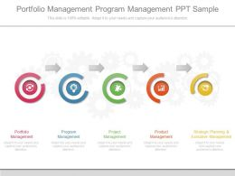 Portfolio Management Program Management Ppt Sample