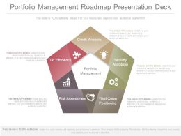 Portfolio Management Roadmap Presentation Deck