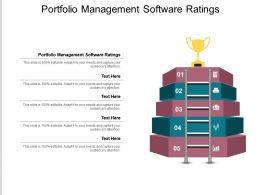 Portfolio Management Software Ratings Ppt Powerpoint Presentation Icon Shapes Cpb