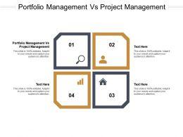 Portfolio Management Vs Project Management Ppt Template Background Designs Cpb