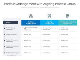 Portfolio Management With Aligning Process Group