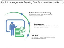 Portfolio Managements Sourcing Data Structures Searchable Database Conservation Efforts