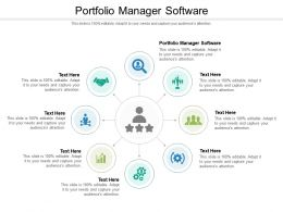 Portfolio Manager Software Ppt Powerpoint Presentation Gallery Influencers Cpb