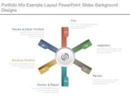 Portfolio Mix Example Layout Powerpoint Slides Background Designs
