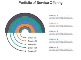 Portfolio Of Service Offering Powerpoint Layout
