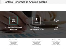 Portfolio Performance Analysis Setting Development Goals Corporate Responsibility Cpb