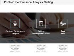 Portfolio Performance Analysis Setting Development Goals Corporate Responsibility Cpb