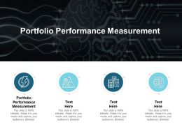 Portfolio Performance Measurement Ppt Powerpoint Presentation File Infographics Cpb