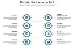 Portfolio Performance Tool Ppt Powerpoint Presentation Icon Graphic Tips Cpb