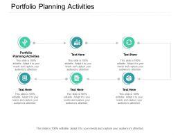 Portfolio Planning Activities Ppt Powerpoint Presentation Show Cpb