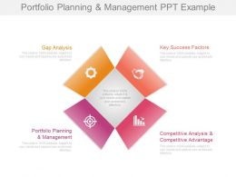 Portfolio Planning And Management Ppt Example