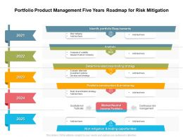 Portfolio Product Management Five Years Roadmap For Risk Mitigation