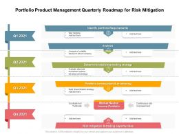 Portfolio Product Management Quarterly Roadmap For Risk Mitigation