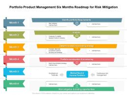Portfolio Product Management Six Months Roadmap For Risk Mitigation