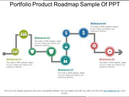 Portfolio Product Roadmap Sample Of Ppt