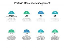 Portfolio Resource Management Ppt Powerpoint Presentation Inspiration Gridlines Cpb