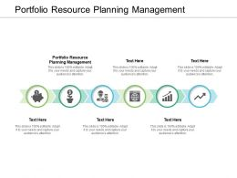 Portfolio Resource Planning Management Ppt Powerpoint Portfolio Cpb