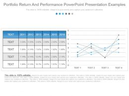 Portfolio Return And Performance Powerpoint Presentation Examples