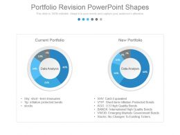 Portfolio Revision Powerpoint Shapes