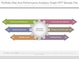 Portfolio Risk And Performance Analytics Graph Ppt Sample File