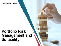 Portfolio Risk Management And Suitability Powerpoint Presentation Slides