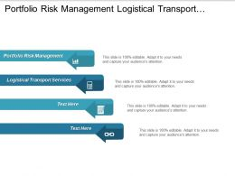 Portfolio Risk Management Logistical Transport Services Risk Financial Operations Cpb