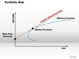 Portfolio Risk Powerpoint Presentation Slide Template